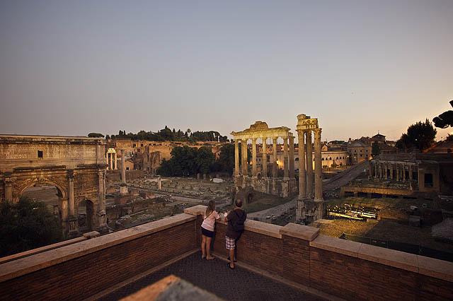 Opět Forum Romanum z druhé strany
