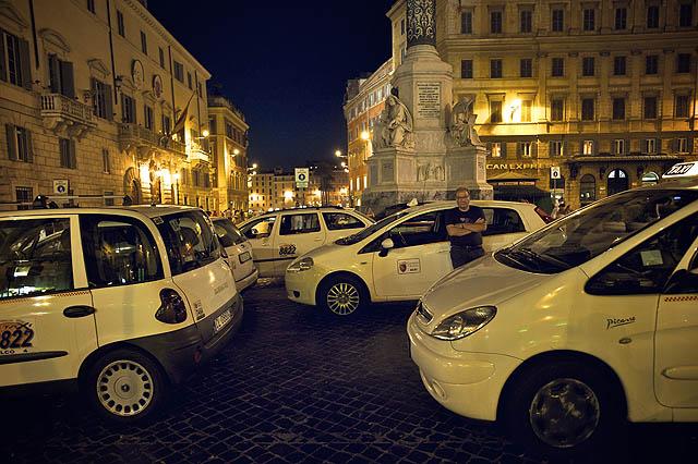 Italští taxikáři