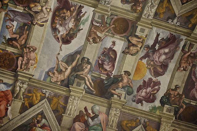 No a to je ten slavný strop v Sixtýnské kapli