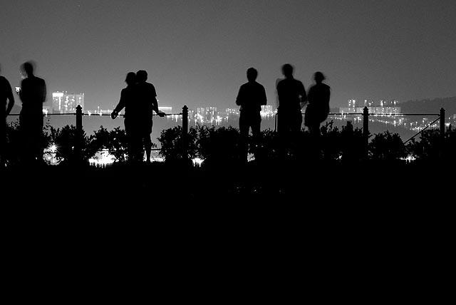 Na Špilberku v noci