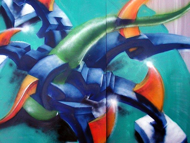 Graffity fragment. V tomhle vidím kumšt a kus umění - od slova umět